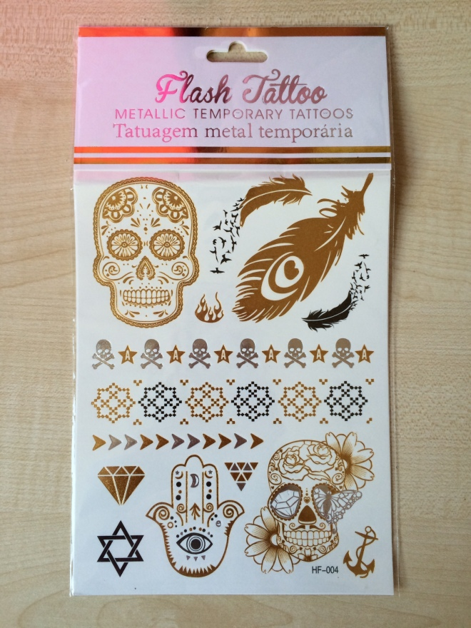 "Cute metallic ""tattoo's"" review"